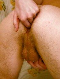 Cute french lad dildo fucks his tight ass